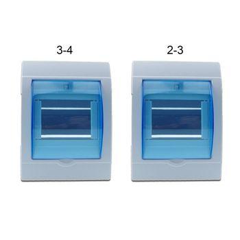 Caja de distribución eléctrica de plástico resistente al agua, caja protectora para interruptor de Casa de 2-3/3-4 vías, montado en la pared 2