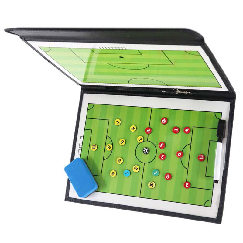 Football Teaching Board Portable Trainning Tactical Board Soccer  Coachs Fold Leather CoachingUseful Assisitant Equipments
