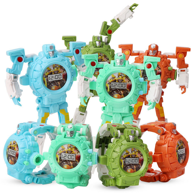Kids Watches  Deformation  Electronic 24 Figure  Projection Watch  Toy  Children Watch  Multi-function  Robot