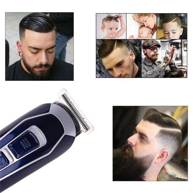 CkeyiN Rechargeable Barber Hair Trimmer for Men Low Noise Shaving Hair Razor Cordless Hair Clipper Hair Cutting Machine Cutter 3