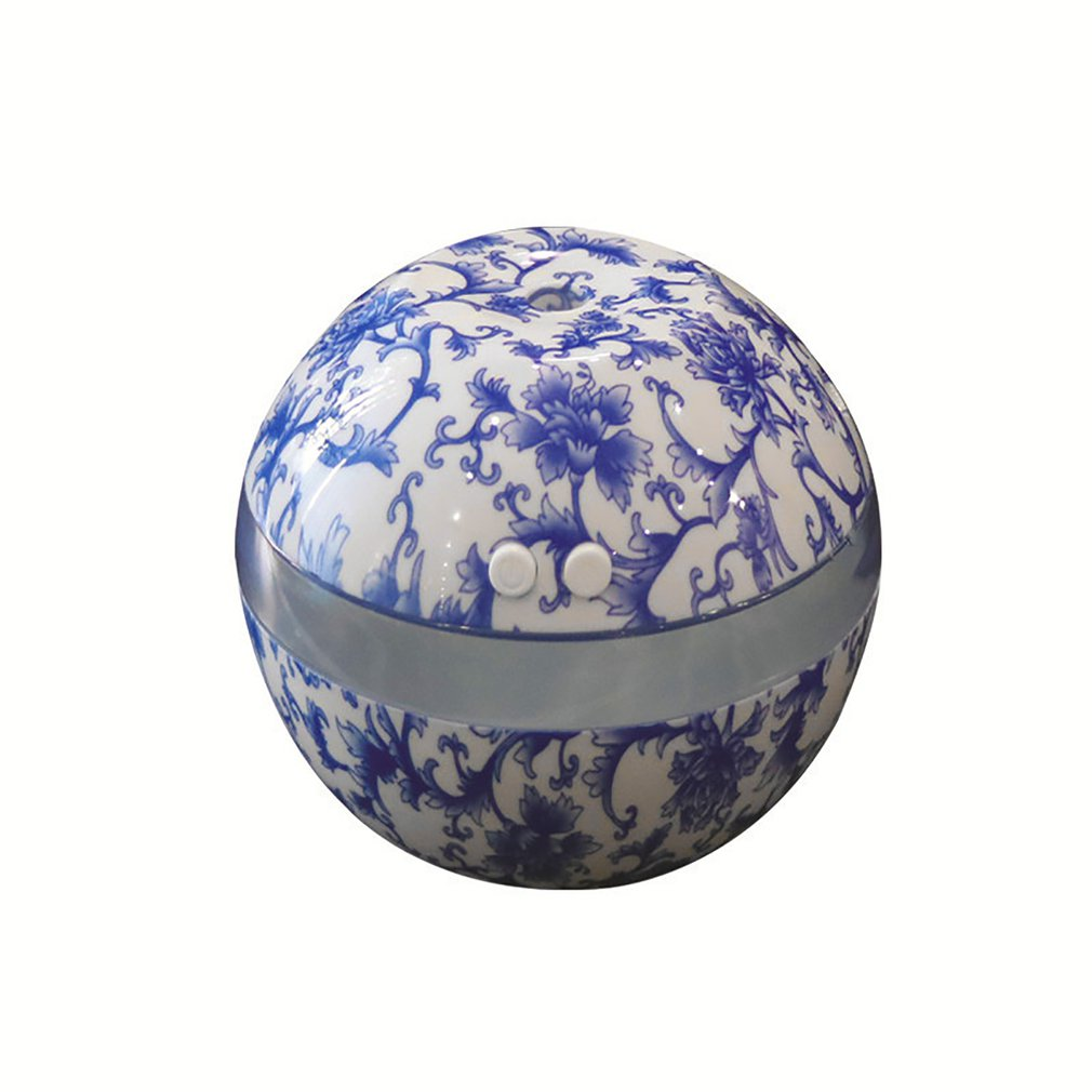Blue & White Porcelain Ultrasonic Humidifier Air Humidifier Aroma Essential Oil Diffuser Aromatherapy for Home Office SPA