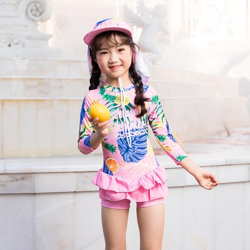 Swimsuit For Girls Kids 2019 Children's Swimwear Baby Clothing Female Child Rash Guard Guards Children Icesand New Plus Size