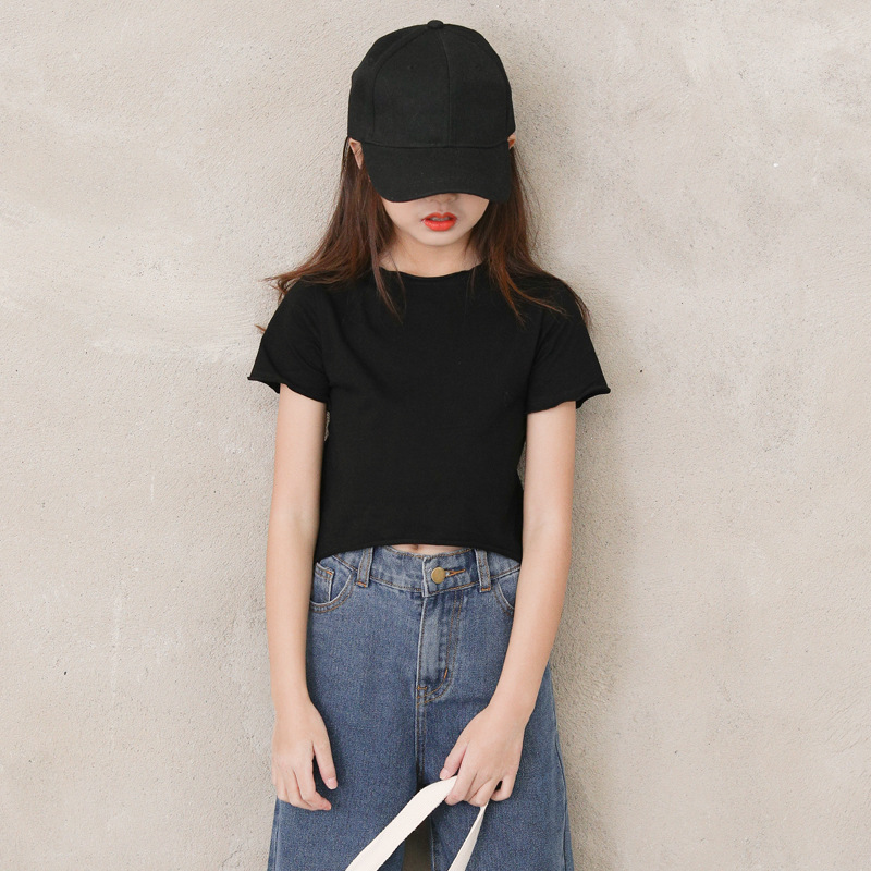New 2020 Summer Korean Style Short Girls T Shirt Children Versatile T Shirt For Girls Casual Baby Girls Solid T Shirt 8569 Tees Aliexpress