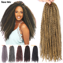 20Inch Soft Kinky Twist Crochet Hair Ombre Synthetic Marley Braiding Hair Long High Temperature Fiber Golden Red For Women cheap TREND WAY CN(Origin) Marley Braids 24strands pack Pure Color Gray Red Purple Marley Braiding Hair 20Inch Synthetic Soft Kinky Twist Hair