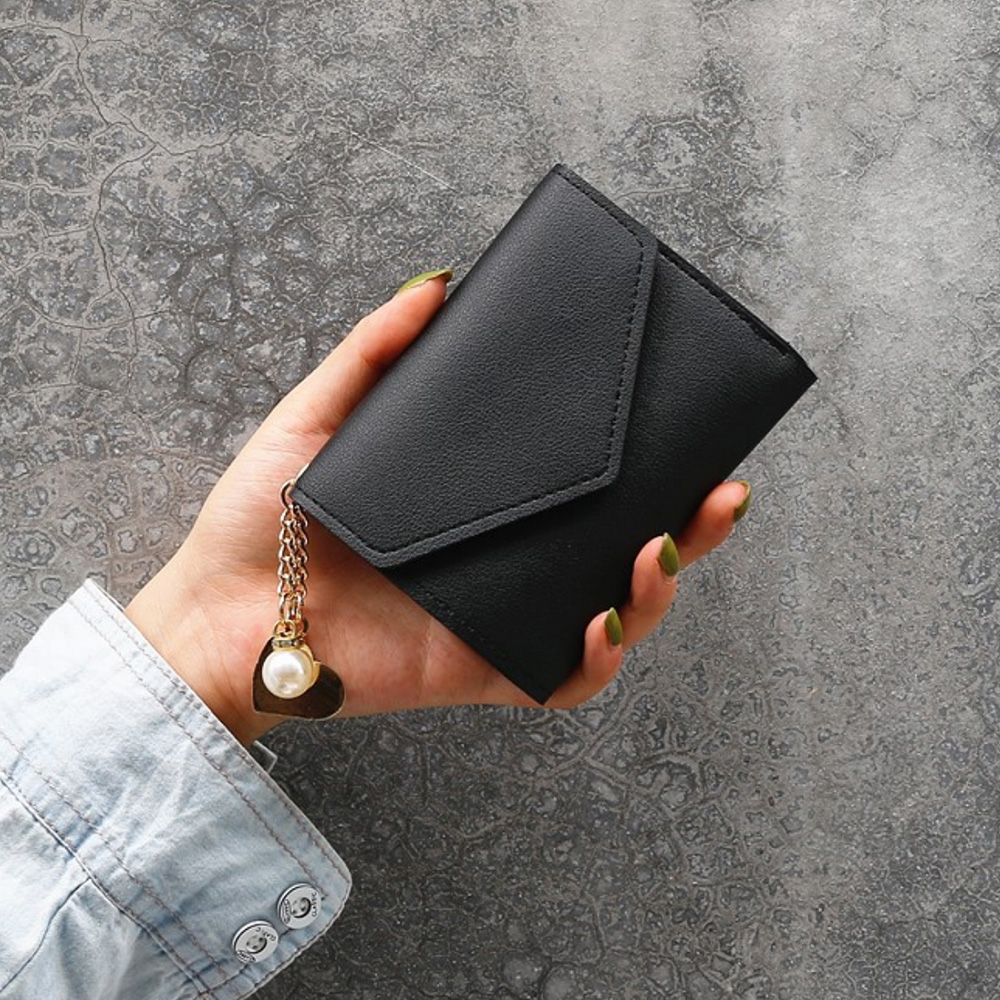 2019 New Women Wallet  Small Cute Wallet Women Short Leather Women Wallets Hasp Purses Portefeuille Female Purse Clutch