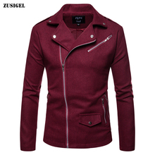 ZUSIGEL British Style Solid Mens Trench 2019 Autumn Winter Diagonal Zipper Male Coat Slim Fit Casual Men Coats