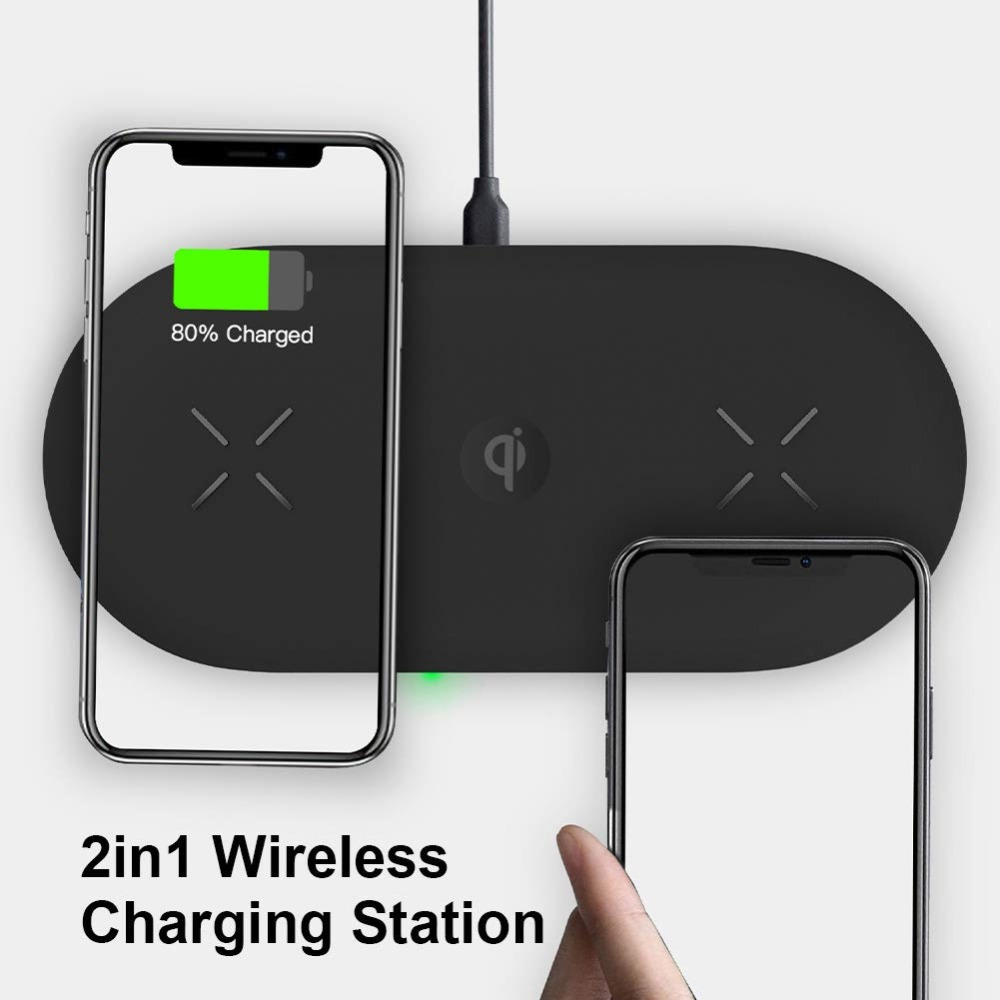 Bonola 3 In1 Wireless Charging Pad For iPhone 11Pro11XRXsMax Charger Dock For Apple Watch 5 Wireless Charger For AirPods Pro (5)