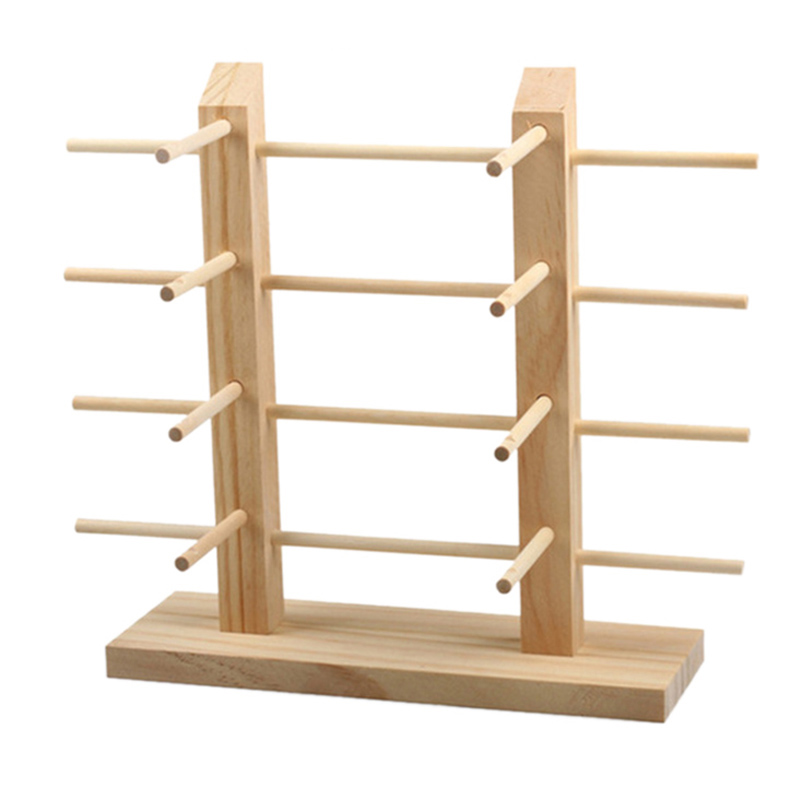 Multi Layers Wood Sunglass Display Rack Shelf Eyeglasses Show Stand Jewelry Holder For Multi Pairs Glasses Showcase Double 8 Row