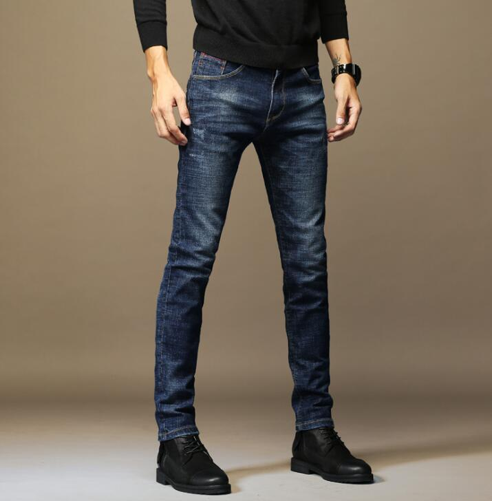 Stylish Popular Men Casual Slim Stretch Jeans Classic Denim Pants 2020 Fashion Style Free Shipping