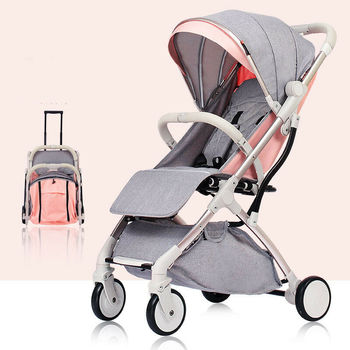 Free shipping in EU High Landscape Light Weight Baby Stroller Can Sit Can Lie Baby Pushchair цена 2017