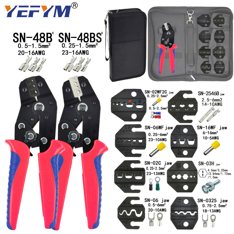 Pliers-Set Electrical-Clamp Min-Tools SN-28B SN-48BS for Vh3.96/tube/Insulation-terminals