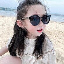 Children Sunglasses Goggle UV400 Outdoors Girls Kids Brand Designer Round Mirror-Protection