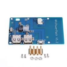 LEORY Lithium-Batterie Power Expansion Board Lade Mobile Strom 2 USB LED Boost für Raspberry Handy LCD Bildschirme