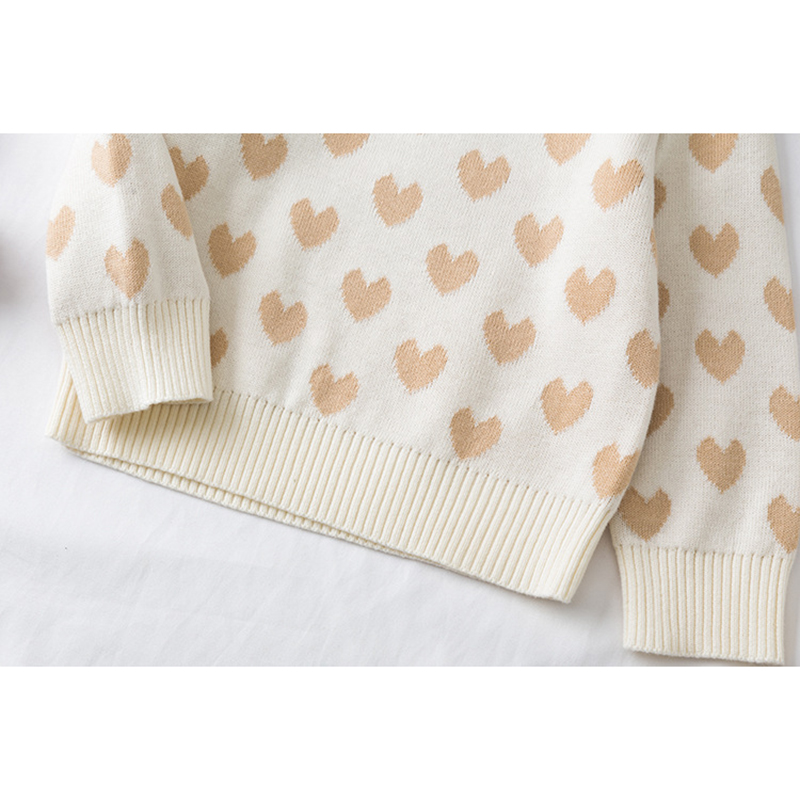 1-6Yrs New 2020 Boy Girl Long Sleeve Loving Heart Knitted Sweater Autumn Winter Boys Girls Sweaters For Baby Girls Kids Sweater 6