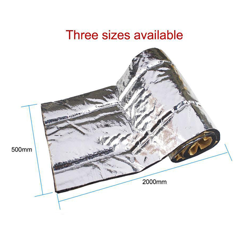 50 200cm 10mm Car Truck Firewall Heat Sound Deadener Noise Insulation Mat aislante termico Heat Sound Thermal Proofing Pads 1Pc