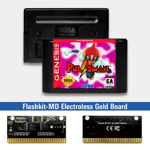 "Image 1 - Pulseman דופק איש ארה""ב תווית Flashkit MD Electroless זהב PCB כרטיס עבור Sega Genesis Megadrive וידאו קונסולת משחקים"