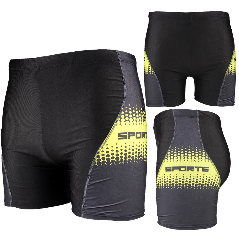 2019 New Style Swimming Trunks Boxer Adult Swimming Trunks Plus-sized Swimming Trunks Men High-waisted Conservative Swimwear