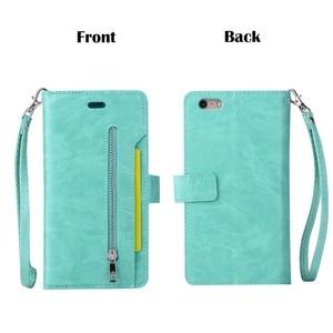 Image 3 - L FADNUT для iPhone X Xr Xs 11 Pro Max 8 7 6S 6 Plus 5 5S SE 2020 кошелек на молнии для карт чехол для телефона откидной держатель кожаный чехол