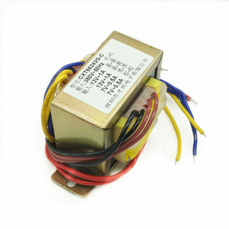 Power Transformer 30W <font><b>30VA</b></font> 380V to 13V 13V Dual 7V Independent Isolation Winding Multi-group Voltage image