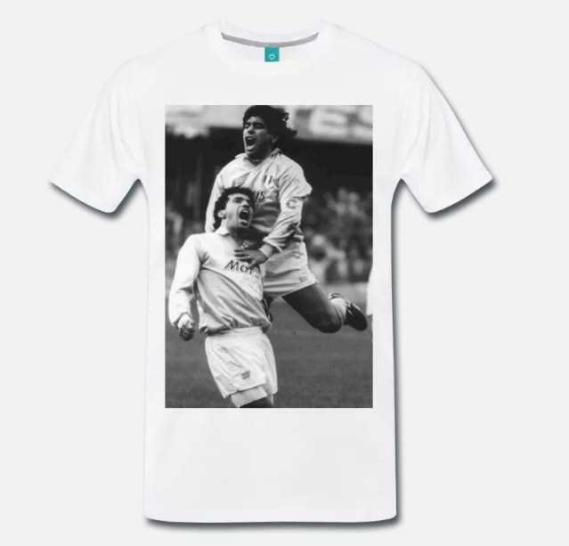 Premium Gildan Diego Maradona Vintage Poster T-Shirt