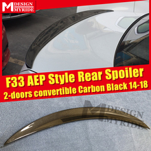 F33 Spoiler Carbon Fiber Tail Wing For BMW 4-Series 420i 428i 430i  2-Door Convertible AEP Style Black 2014-2018