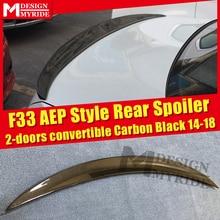 цена на F33 Spoiler Carbon Fiber Spoiler Tail Wing For BMW 4-Series 420i 428i 430i  2-Door Convertible AEP Style Black Spoiler 2014-2018