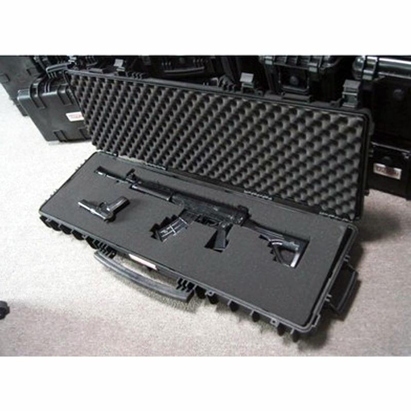 Купить с кэшбэком long Tool case gun case large toolbox Impact resistant sealed waterproof case equipment  camera gun case with pre-cut foam