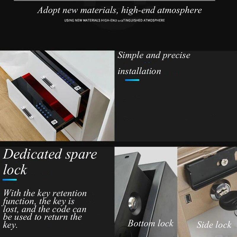 Seguridad del cajón de seguridad bloqueo de contraseña Digital Home Office Hotel sistema de alarma Dual cubierta de seguridad llave antirrobo seguridad DHZ0043 - 4