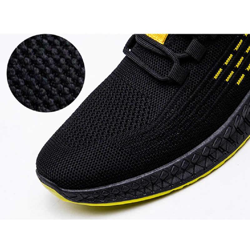 Mode Sneakers Mannen Gevulkaniseerd Schoenen Air Mesh Heren Trainers Lichtgewicht Casual Schoenen Mannen Zwart Schoeisel Tenis Masculino