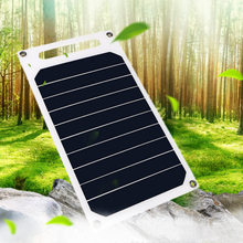 CLAITE 5V 10W DIY Solar Panel Slim Light USB Charger Charging Portable Power Bank Pad Universal For Phone Lighting Car Charger sc 10w 10w mobile solar charger power bank usb 5v
