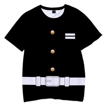 Cool New Children Catoon Demon Slayer 3D Printing Tee Kids Tops Boy Anime Cosplay Kimetsu no Yaiba tshirt Summer Short T-shirt