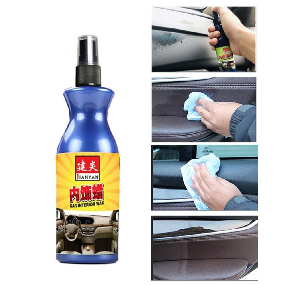 100ml Car Polish Wax Plastic Leather Retreading Agent Automotive Interior