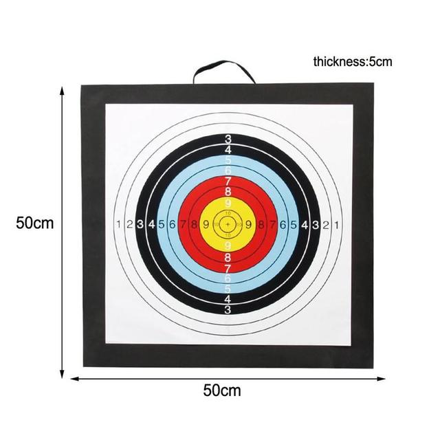 1Pcs 50*50*5cm Archery Target High Density EVA Foam Shooting Practice Board Indoor and Outdoor Sports Hunting Accessories 6