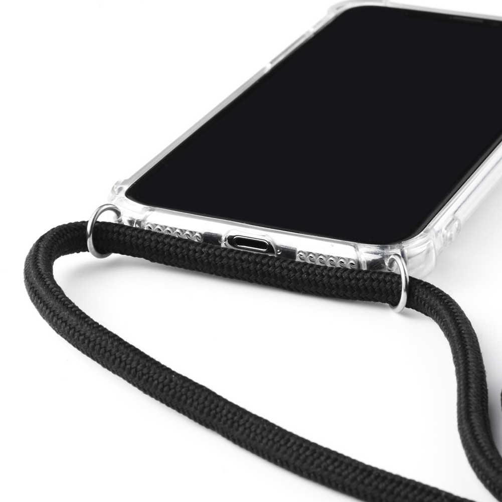 Bigcousin Funda con Cuerda Compatible con Samsung Galaxy S10 Plus,Carcasa de Silicona con Colgante con Ajustable Collar Cadena Cord/ón,Rose Gold