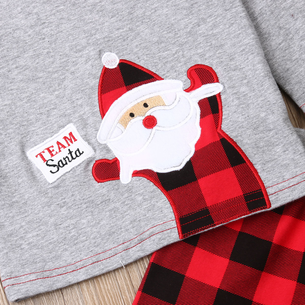 3Pcs Newborn Baby Girl Boy My 1st Christmas Clothes Set Long Sleeve Shirts Pant Hat Outfit Xmas Unisex Baby Clothing Set in Clothing Sets from Mother Kids