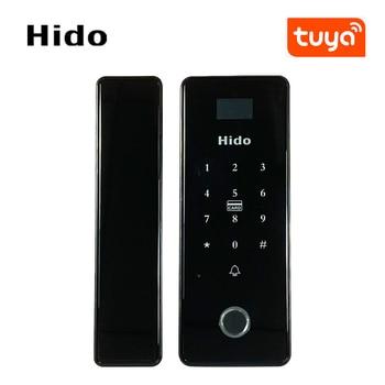 Fingerprint Lock Smart Door Lock with Tuya WIFI Remote Control Home Lock for sliding door push-pull door fechadura digital цена 2017
