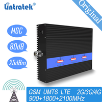 Lintratek 4g signal booster 900  1800  2100MHz signal repeater for mobile phones 2G 3G signal amplifier gsm  for home