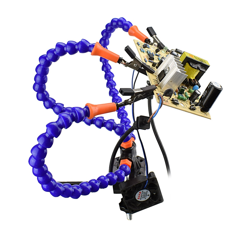Bench Vise Table Clamp Soldering Station With 3pc Flexible Arms Soldeirng Iron Holder PCB Welding Repair Third Hand Tool