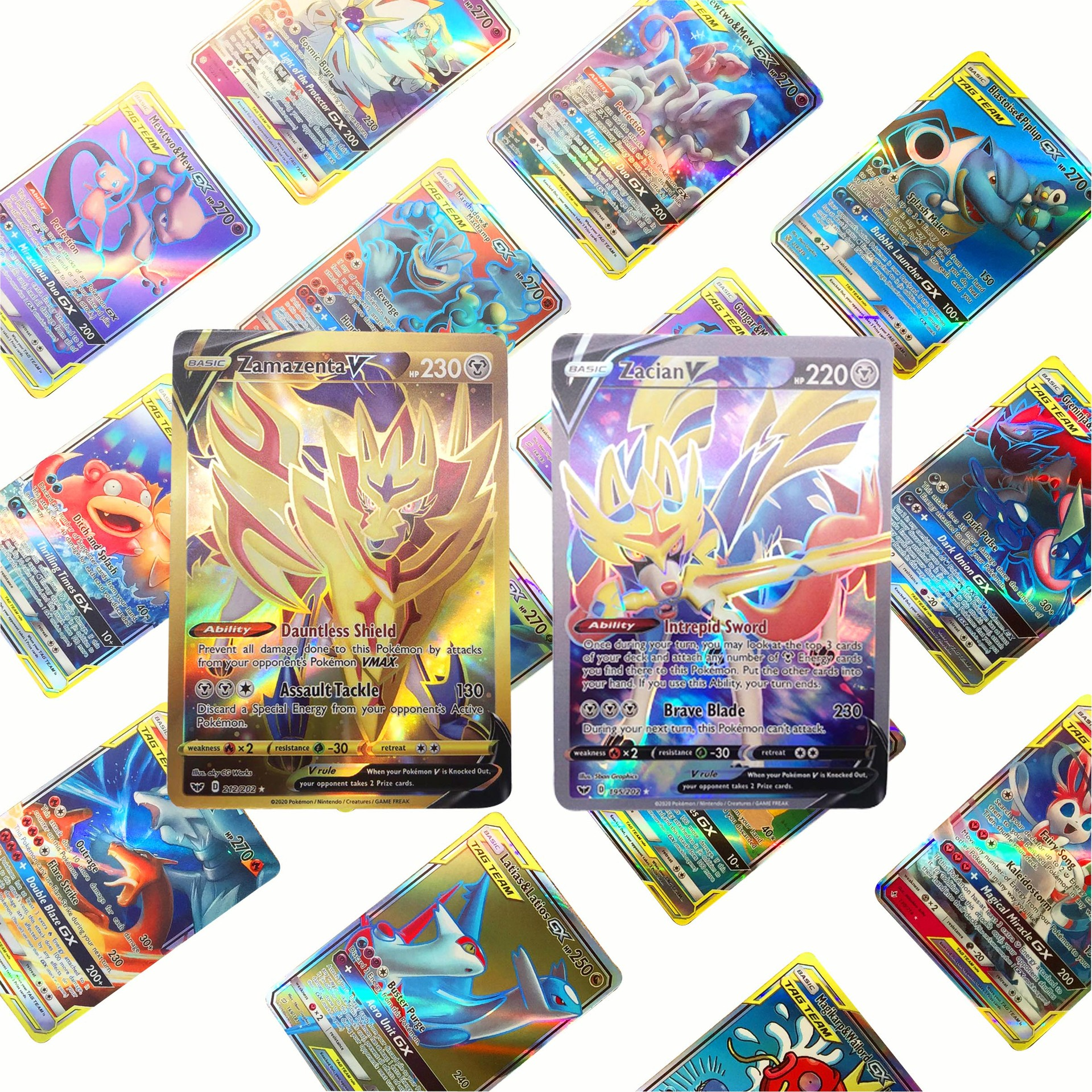 2020 New Pokemon Battle Game Card Vmax Card CARDS Card GX MEGA EX English Version Kind Kids Toy Gift