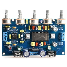 DIY Power Amplifier Tone Board Voltage Amplifier LM4610 Tone +5532 Amplification Front   Stage Finished Products