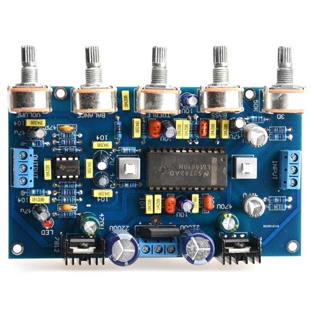 DIY Power Verstärker Ton Bord Spannung Verstärker LM4610 Ton + 5532 Verstärkung Front Bühne Fertig Produkte