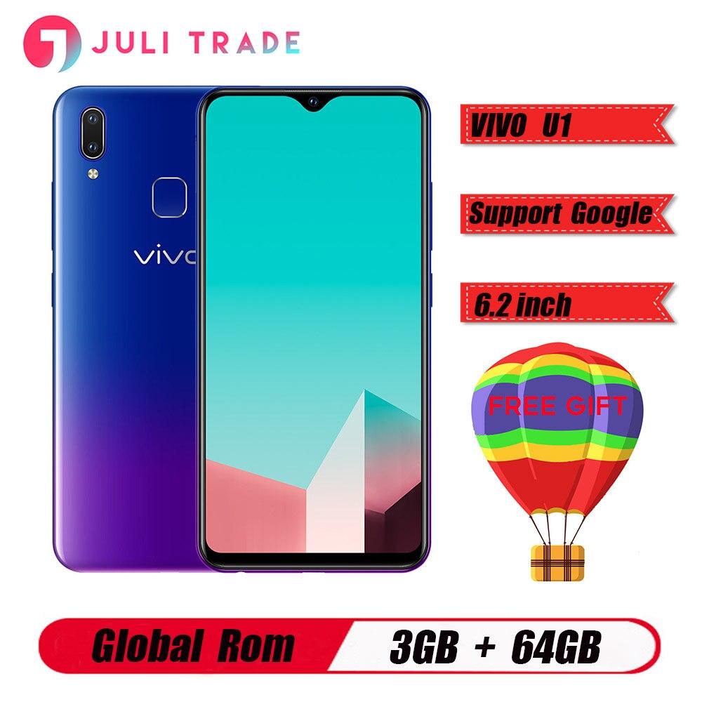 vivo U1 6.2inch Screen 3G RAM 64G ROM Octa Core Android 8.1 4030mAh Big Battery Face ID and Fingerprint Dual Camera Smartphone