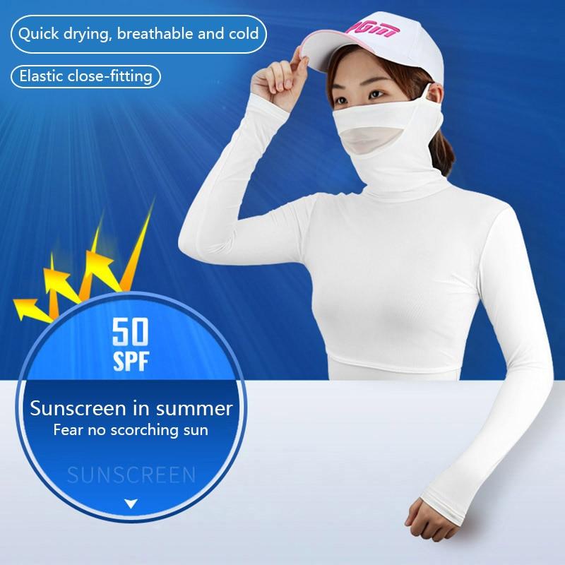 PGM Womens Anti-UV Shirts Half-length Long Sleeve Summer Sunscreen Golf Bingsi Underwear Outdoor Sports Apparel JC 1