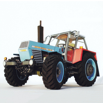 Zetor Crystal 120 45 Tractor 1:32 Czech Folding Cutting Mini 3D Paper Model Papercraft DIY Adult Handmade Craft Toys ZX-048 image