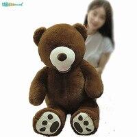 120cm Big Size Cute Brown Teddy America Bear Plush Toys Pillow Soft Stuffed Animal Doll Xmas Gift Sleep Partner Kids Playmate