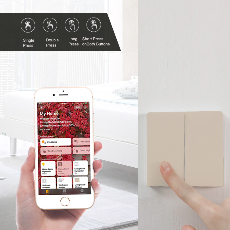 Newest-Original-Gold-Version-Xiaomi-Mijia-Aqara-Switch-Smart-Light-Remote-Control-ZigBee-Wireless-Wall-Switch
