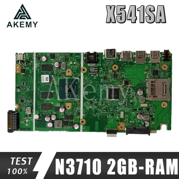 NEW X541SA mainboard REV 2.0 For ASUS X541 X541S X541SA laptop motherboard Test ok N3710-CPU 4 Cores + 2GB-RAM