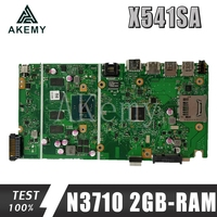 Novo x541sa mainboard rev 2.0 para For Asus x541 x541s x541sa portátil placa-mãe teste ok N3710-CPU 4 núcleos + 2gb-ram