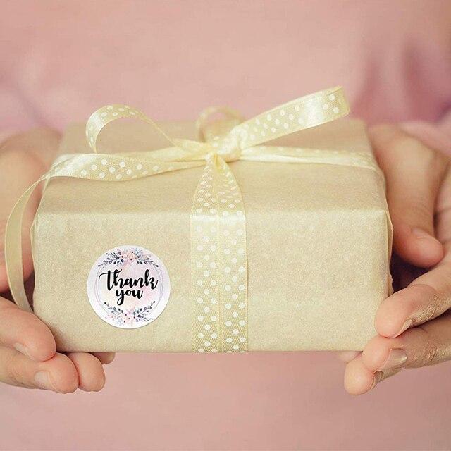 Merci autocollants sceau étiquettes florales pour projet mariages événements anniversaires bébé douches petite entreprise étiquette étiquettes pour paquets