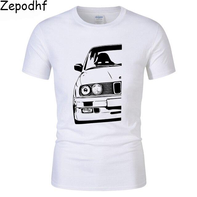 Men's Fashion Race car Design T shirt Tops Short Sleeve Hipster Tshirt for BMW E30 Tees clothing cool shirts